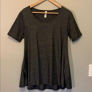 LuluRoe dark gray Perfect T tunic NWOT